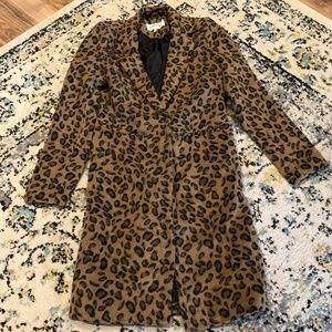 Kendall + Kylie Leopard Print Peacoat/Jacket XS
